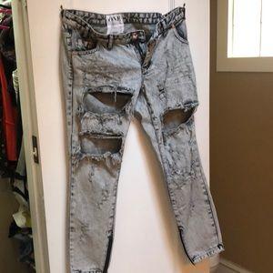 OneTeaspoon Acid Washed Jeans